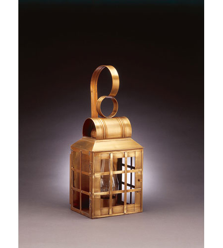 Northeast Lantern Lynn 1 Light Outdoor Wall Lantern in Antique Brass 8131-AB-CIM-CLR photo