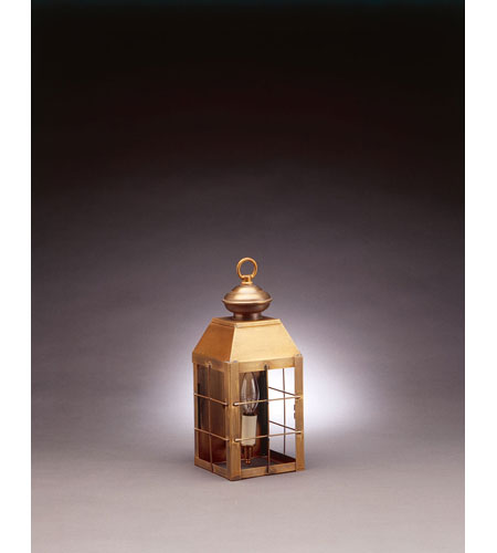Northeast Lantern 8311-AB-LT1-CLR Woodcliffe 1 Light 13 inch Antique Brass Outdoor Wall Lantern in Clear Glass photo