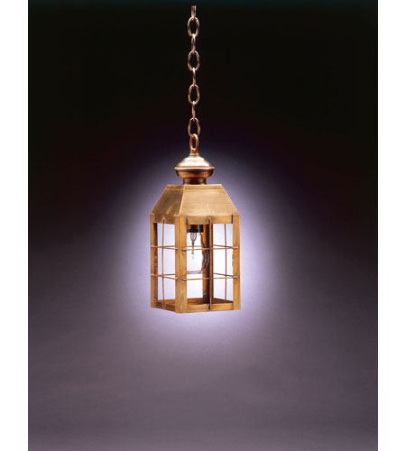 Northeast Lantern 8312-AB-MED-CLR Woodcliffe 1 Light 5 inch Antique Brass Hanging Lantern Ceiling Light in Clear Glass photo