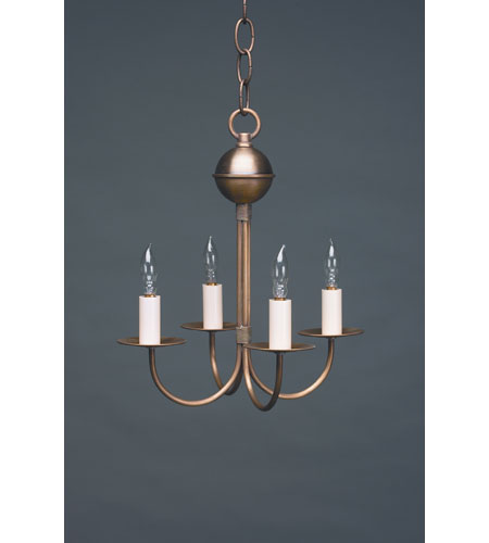 Northeast Lantern 904-AB-LT4 Signature 4 Light 11 inch Antique Brass Chandelier Ceiling Light photo