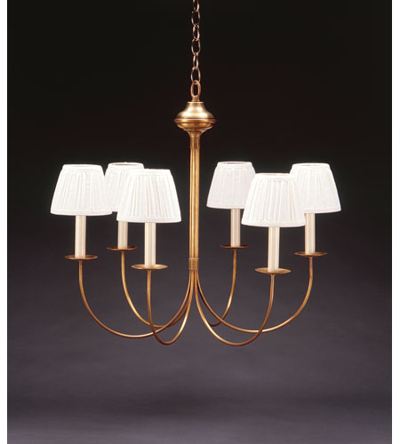 Northeast Lantern 906S-AB-LT6 Signature 6 Light 23 inch Antique Brass Chandelier Ceiling Light photo