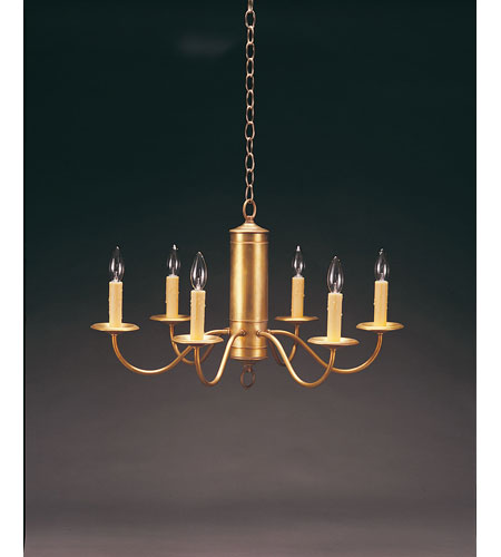Northeast Lantern 911-AB-LT6 Signature 6 Light 25 inch Antique Brass Chandelier Ceiling Light photo