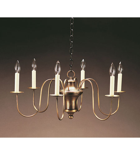 Northeast Lantern 914-DAB-LT6 Signature 6 Light 26 inch Dark Antique Brass Chandelier Ceiling Light photo thumbnail