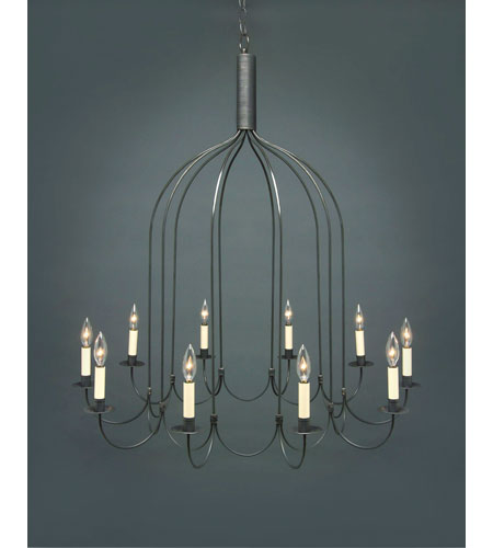 Northeast Lantern 939-DB-LT10 Signature 10 Light 36 inch Dark Brass Chandelier Ceiling Light photo
