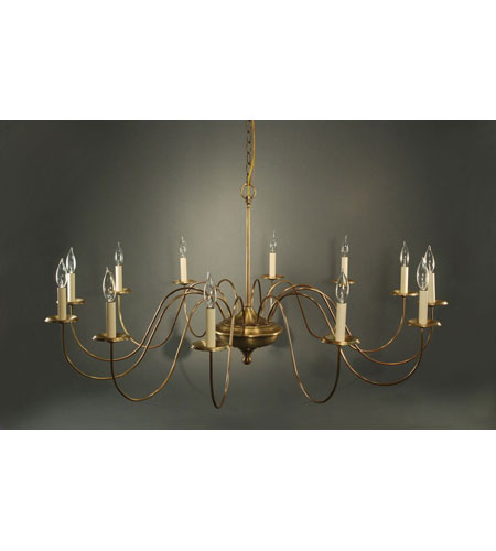 Northeast Lantern Signature 12 Light Chandelier in Antique Brass 951-AB-LT12 photo