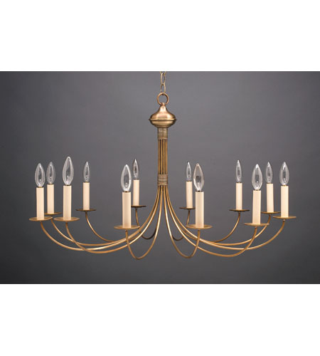 Northeast Lantern Signature 12 Light Chandelier in Antique Brass 952-AB-LT12 photo