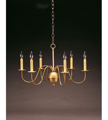 Northeast Lantern 969-AB-LT6 Signature 6 Light 26 inch Antique Brass Chandelier Ceiling Light photo