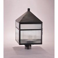 Northeast Lantern Waverly 3 Light Post Mount in Dark Brass 0773-DB-LT3-FST-CRD
