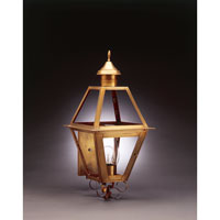 Boston 1 Light 25 inch Antique Brass Outdoor Wall Lantern in Clear Glass, Chimney, Medium