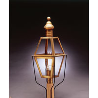 Northeast Lantern Boston 1 Light Post in Antique Brass 1043-AB-CIM-CLR