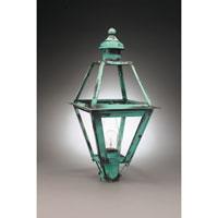 Northeast Lantern 1063-VG-CIM-CLR Boston 1 Light 26 inch Verdi Gris Post Lantern in Clear Glass, Chimney, Medium