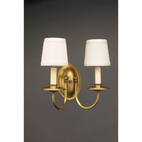 Signature 2 Light 12 inch Antique Brass Wall Sconce Wall Light