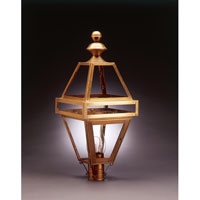 Boston 1 Light 29 inch Antique Brass Post Lantern in Clear Glass, Chimney, Medium