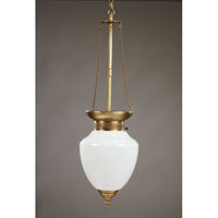 Northeast Lantern Vintage 1 Light Hanging Lantern in Antique Brass 1452-AB-MED-WHT