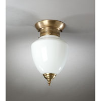 Northeast Lantern Vintage 1 Light Wall Lantern in Antique Brass 1454-AB-MED-WHT