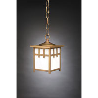 Northeast Lantern Lodge 1 Light Hanging Lantern in Antique Brass 1512-AB-MED-WHT