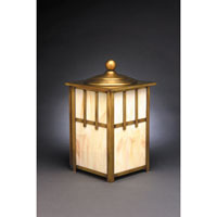 Northeast Lantern Lodge 1 Light Outdoor Wall Lantern in Antique Brass 1531-AB-MED-CRML