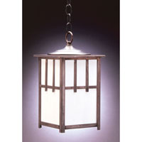 Northeast Lantern Lodge 1 Light Hanging Lantern in Dark Brass 1532-DB-MED-WHT