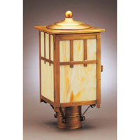 Northeast Lantern Lodge 1 Light Post in Antique Brass 1533-AB-MED-CRML photo thumbnail