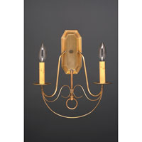 Northeast Lantern Signature 2 Light Wall Sconce in Antique Brass 169-AB-LT2