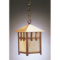 Northeast Lantern Lodge 1 Light Hanging Lantern in Antique Brass 1712-AB-MED-CRML
