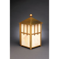 Northeast Lantern Lodge 1 Light Outdoor Wall Lantern in Antique Brass 1731-AB-MED-CRML