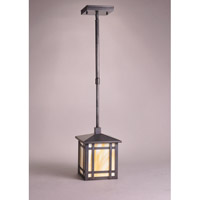 Northeast Lantern Sierra 1 Light Pendant in Dark Brass 1742-DB-MED-CRML-AP10