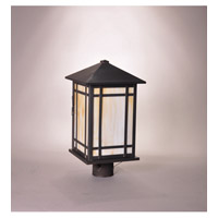 Northeast Lantern Sierra 1 Light Post Mount in Dark Brass 1753-DB-MED-CRML