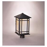 Northeast Lantern Sierra 1 Light Post Mount in Dark Brass 1753-DB-MED-CRML