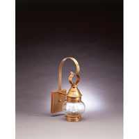Northeast Lantern Onion 1 Light Outdoor Wall Lantern in Antique Brass 2011-AB-MED-CLR