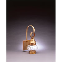 Northeast Lantern 2011-AB-MED-OPT Onion 1 Light 15 inch Antique Brass Outdoor Wall Lantern in Optic Glass