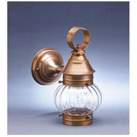 Northeast Lantern 2015-AB-MED-OPT Onion 1 Light 11 inch Antique Brass Outdoor Wall Lantern in Optic Glass