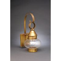 Northeast Lantern Onion 1 Light Outdoor Wall Lantern in Antique Brass 2021-AB-MED-CLR