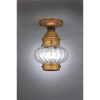 Northeast Lantern Onion 1 Light Flush Mount in Antique Brass 2024-AB-MED-OPT