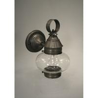 Northeast Lantern 2025-DB-MED-CLR Onion 1 Light 10 inch Dark Brass Outdoor Wall Lantern in Clear Glass