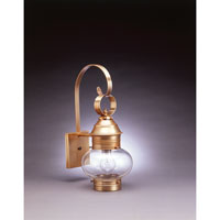 Northeast Lantern Onion 1 Light Outdoor Wall Lantern in Antique Brass 2031-AB-MED-CLR