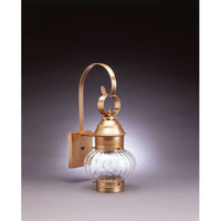 Northeast Lantern 2031-AB-MED-OPT Onion 1 Light 19 inch Antique Brass Outdoor Wall Lantern in Optic Glass