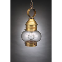 Northeast Lantern 2032-AB-MED-CLR Onion 1 Light 8 inch Antique Brass Hanging Lantern Ceiling Light in Clear Glass photo thumbnail