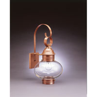 Northeast Lantern 2041-AC-MED-CLR Onion 1 Light 21 inch Antique Copper Outdoor Wall Lantern in Clear Glass