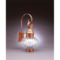 Northeast Lantern 2041-AC-MED-OPT Onion 1 Light 21 inch Antique Copper Outdoor Wall Lantern in Optic Glass