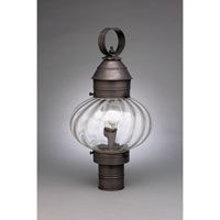Northeast Lantern Onion 1 Light Post in Dark Brass 2043-DB-MED-OPT