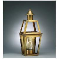Northeast Lantern Uxbridge 1 Light Outdoor Wall Lantern in Antique Brass 2231-AB-CIM-CLR photo thumbnail