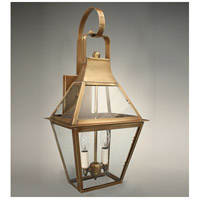 Uxbridge 2 Light 23 inch Antique Brass Outdoor Wall Lantern in Clear Glass, Candelabra