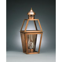 Northeast Lantern Uxbridge 1 Light Outdoor Wall Lantern in Antique Brass 2241-AB-CIM-CLR