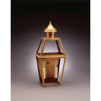 Uxbridge 2 Light 21 inch Antique Brass Outdoor Wall Lantern in Clear Glass, No Chimney, Candelabra