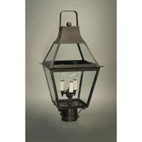Northeast Lantern 2243-DB-LT3-CLR Uxbridge 3 Light 23 inch Dark Brass Post Lantern in Clear Glass, No Chimney, Candelabra