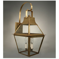 Uxbridge 3 Light 24 inch Antique Brass Outdoor Wall Lantern in Clear Glass