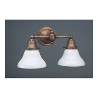 Signature 2 Light 15 inch Dark Antique Brass Wall Lantern Wall Light in White Glass, 51