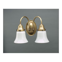 Signature 2 Light 11 inch Antique Brass Wall Lantern Wall Light in White Glass