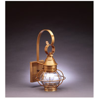 Northeast Lantern Onion 1 Light Outdoor Wall Lantern in Antique Brass 2511-AB-MED-CLR